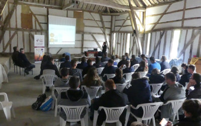 50 participants visited M. Patenotre's farm to discuss climate adaptation