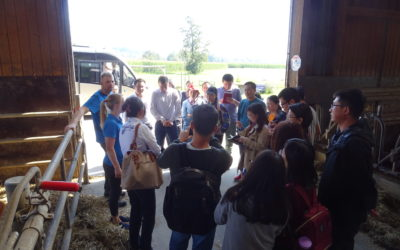 Young specialists from China visit LIFE AgriAdapt pilot farm at Lake Constance