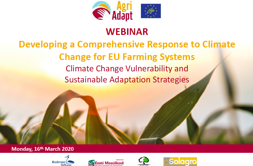 "Webinar ""Developing a comprehensive response to climate Change for EU Farming Systems"""