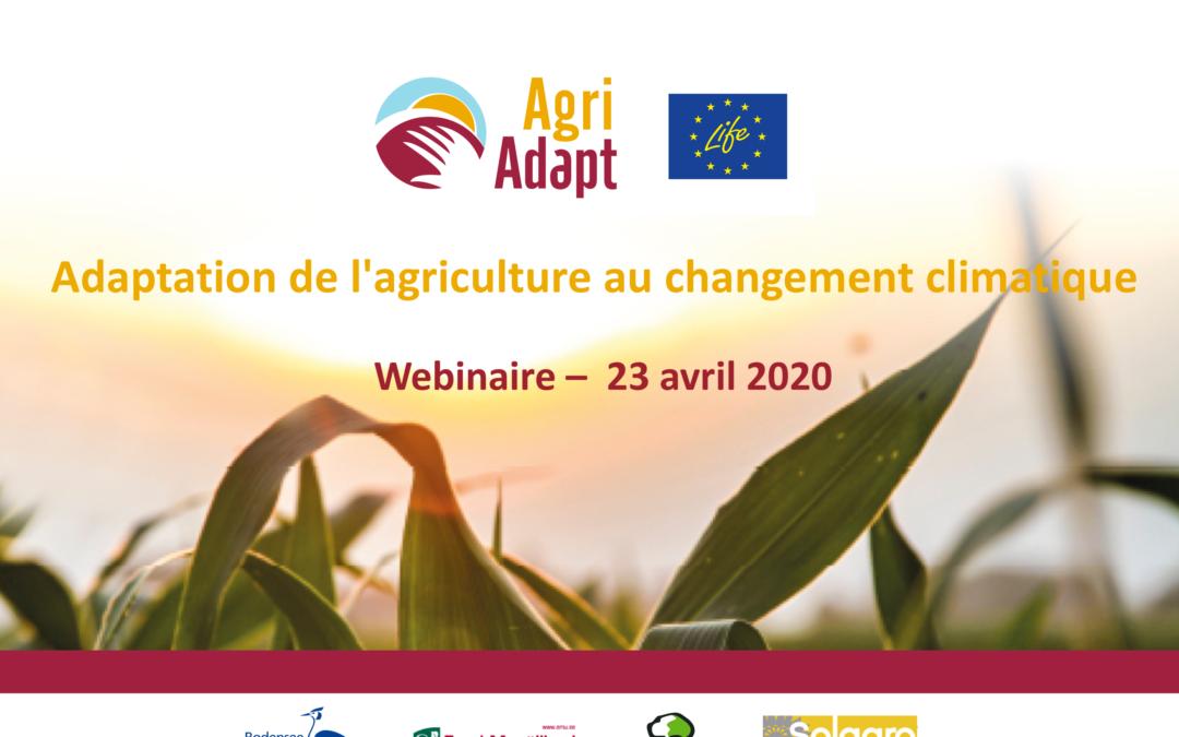 LIFE AgriAdapt : Letztes Webinar in Frankreich